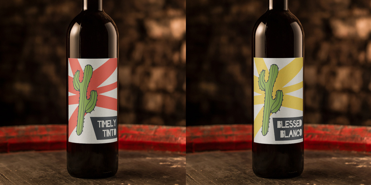 Luckys Lupitas wine labels
