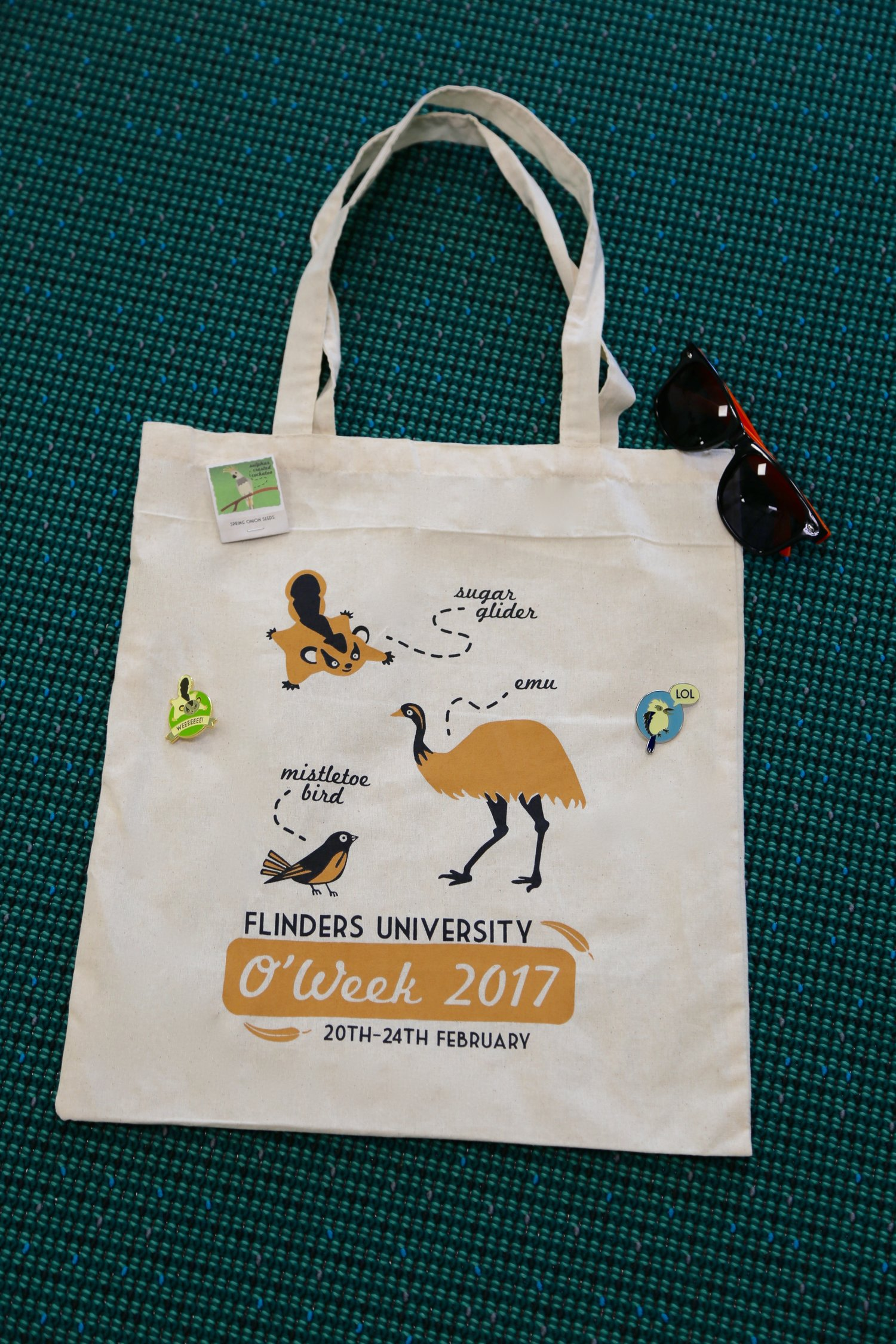 Flinders O'Week promo graphics and items